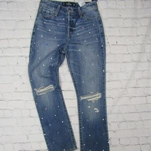 HOLLISTER High Rise Vintage Straight Studded